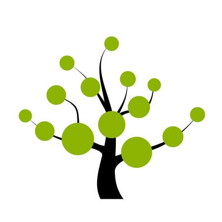 branching:  tree with blank round labels Illustration
