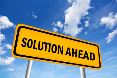 Solution ahead sign Stock Photo - 18678021