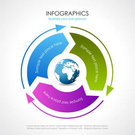 diagrama procesos: Vector diagrama de proceso