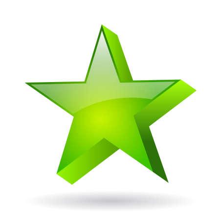 Vector green glass star Stock Vector - 18831309
