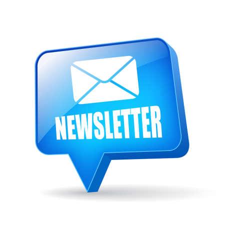 newletter: Vector newsletter bolla Vettoriali