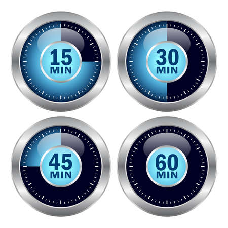 min: timer icons set Illustration