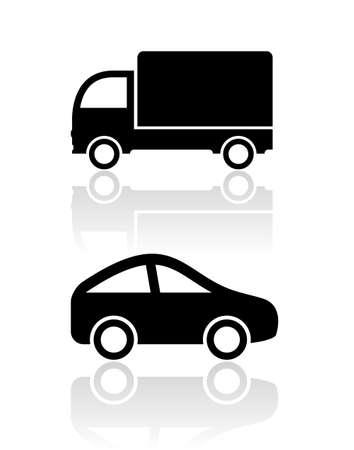 motor truck: Car icons, clip art