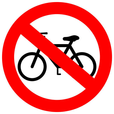 no label: sign no bicycle