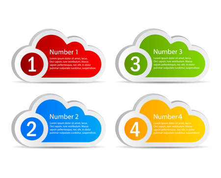 numbered: information clouds Illustration