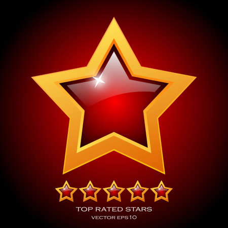 Review rating stars illustration Vector