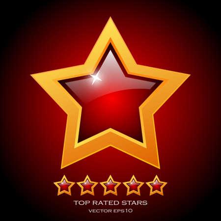 Review rating stars illustration