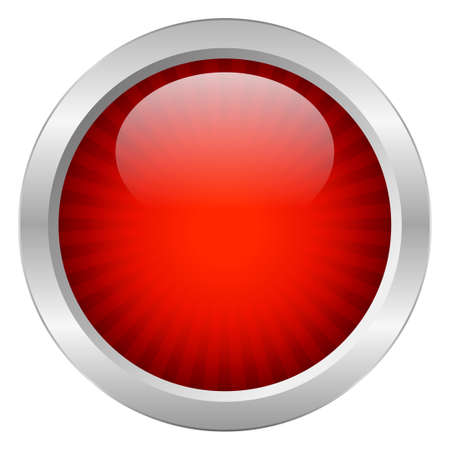 Red button Stock Vector - 18964570