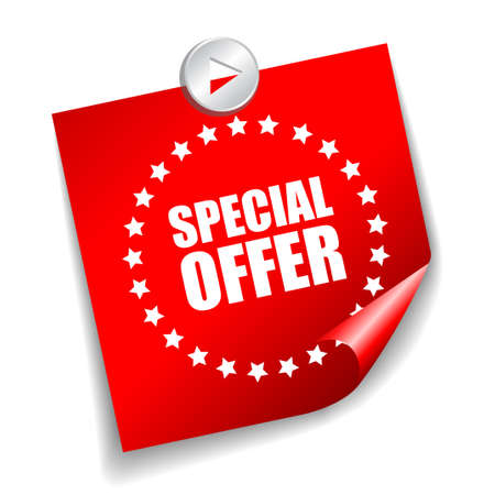 especial: special offer sticker
