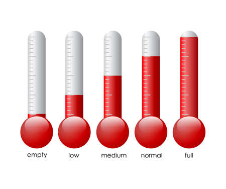 Thermometers set illustration illustration