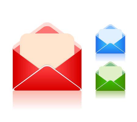 Color envelopes set illustration Stock Vector - 19088136