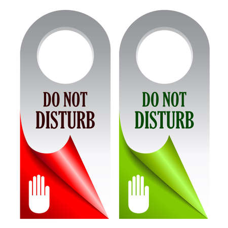 Do not disturb cards Vector