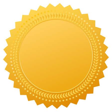 remise de prix: Sceau d'or blanc, clip art vecteur