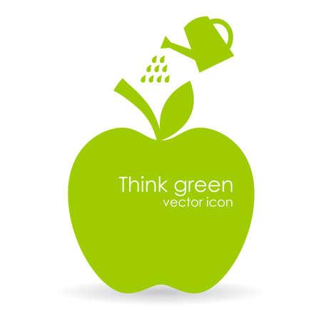manzana: Vector ilustración de manzana, símbolo del crecimiento