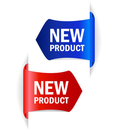 business products: New product vector tags Illustration