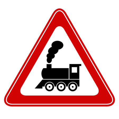 Train vector sign Vector