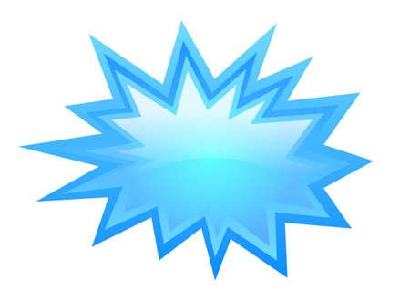 starbursts: Blue star icon, vector illustration