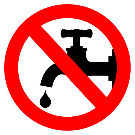 llave de agua: Guardar signo de agua, ilustraci�n vectorial Vectores
