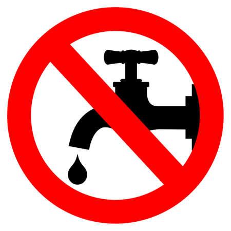 � gua: Salvar signo de água, ilustração do vetor