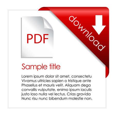 PDF Download Einkaufswagen Abbildung Vektorgrafik