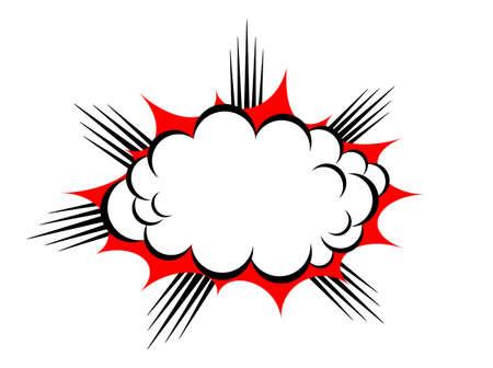 bomb price: explosion cloud Illustration