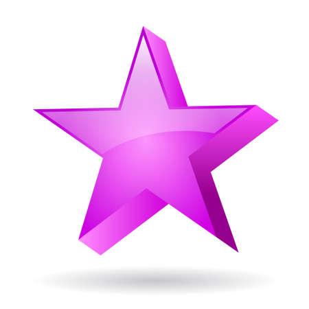 Glass star clip art Stock Vector - 19245978