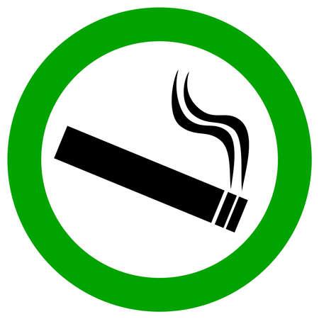 fumando: Muestra del �rea de fumadores Vectores