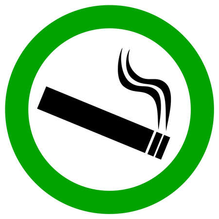 and the area: Smoking area sign