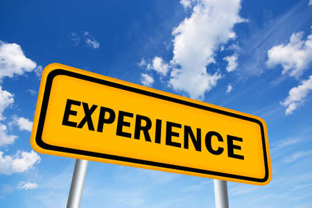 work experience: Experience sign Stock Photo
