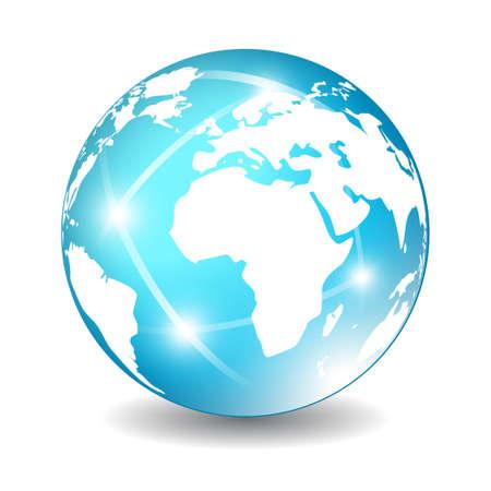 Terra globo icona, illustrazione vettoriale