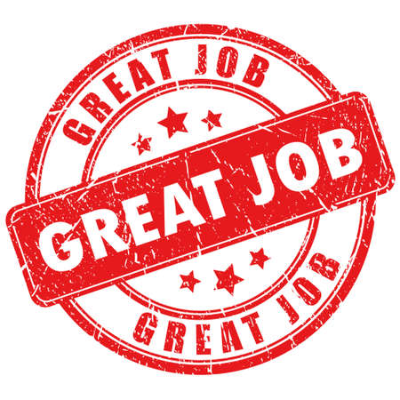 job: Vector great job stamp