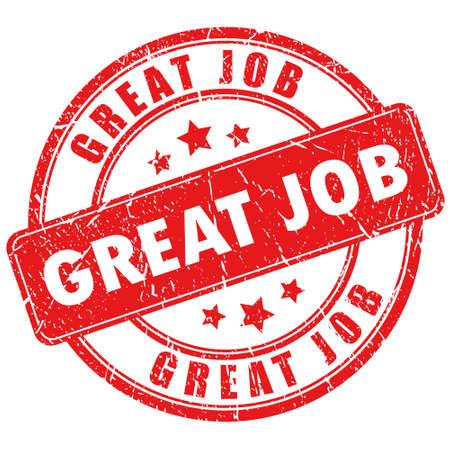 Vector great job stamp Stock Vector - 19375851