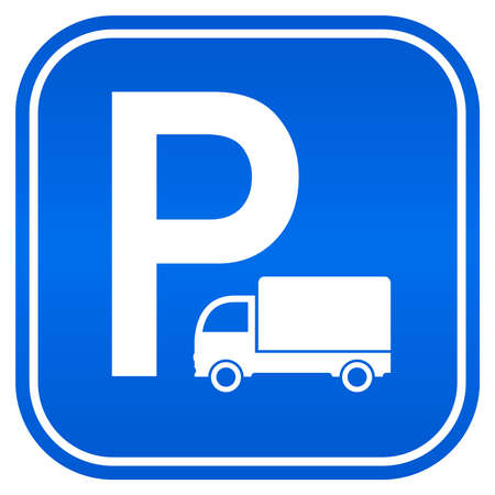parking sign: Lorry parking sign, vector illustration