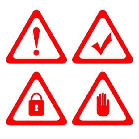 alertas: Iconos de la protecci�n del vector