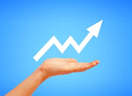 Raising graph illustration Stock Photo