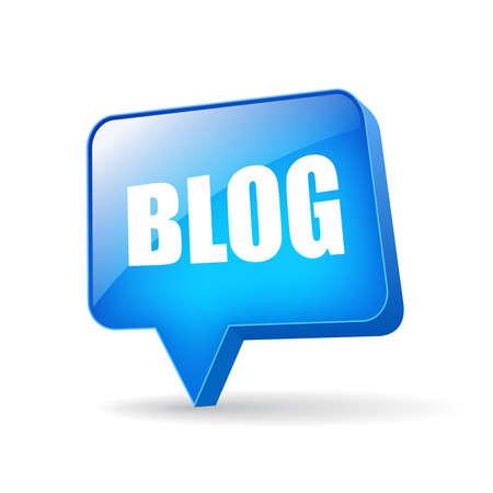 Vector blog bubble