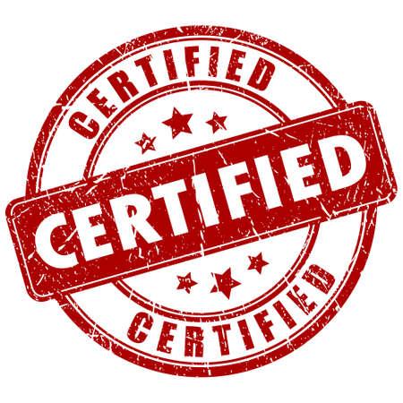 Vector certificata timbro