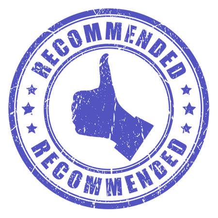 estampa: Recomendada sello Vector Vectores
