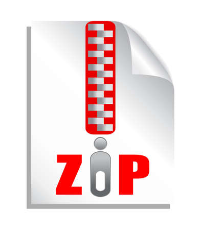 Zip file download, vector illustration Stock Vector - 19397637