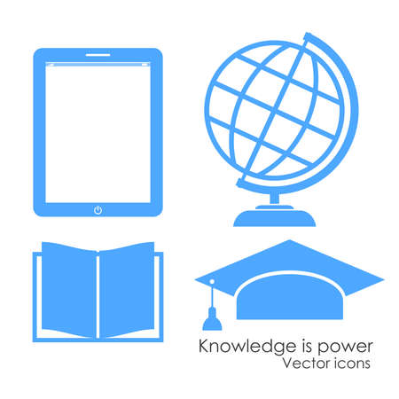 Academical icons, vector illustration Vector