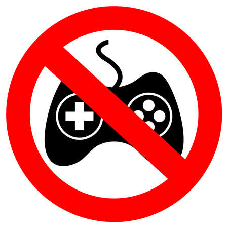 No gaming vector sign Stock Vector - 19684154