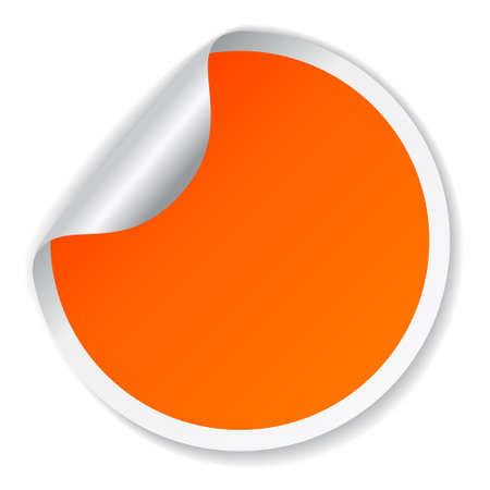 memo board: Vector orange sticker