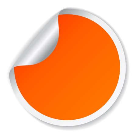 label: Vector oranje sticker Stock Illustratie