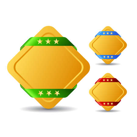 Rhombus blank buttons, vector illustration Vector