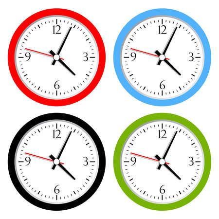 orologio da parete: Orologio di raccolta vettore Vettoriali