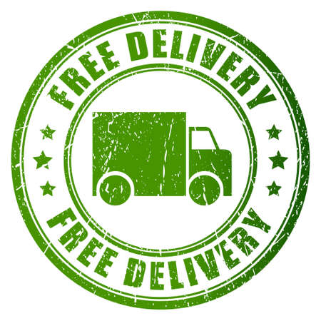 free delivery: Free delivery vector stamp