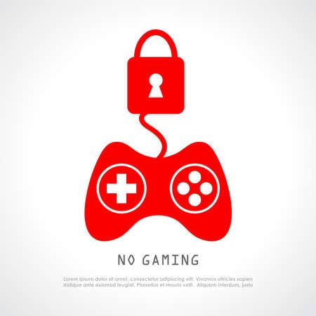 No gaming vector poster Illustration
