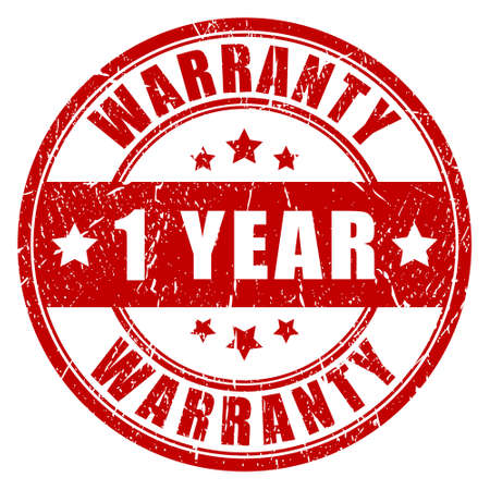 One year warranty stamp Vector