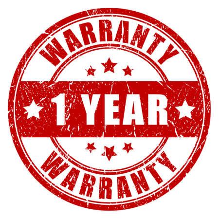 surety: One year warranty stamp Illustration