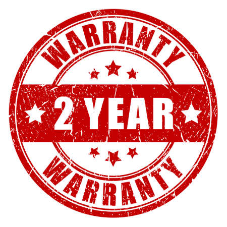 Two year warranty stamp Vector